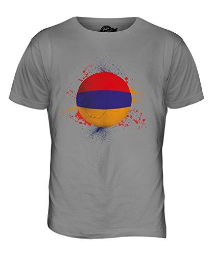 CandyMix Armenia Calcio T-Shirt da Uomo Maglietta Grigio chiaro