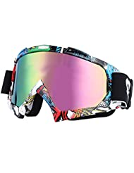 inastillable – Gafas de equitación adooo cortavientos Anti-UV gafas para moto Dirt Bike Motocross Off Road Equitación
