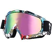 inastillable–Gafas de equitación adooo cortavientos Anti-UV gafas para moto Dirt Bike Motocross Off Road Equitación