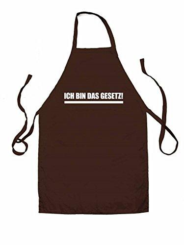 Ich bin das Gesetz - Unisex Schürzen Passend Für Erwachsene - Braun - Eine Größe (Gesetz Erwachsene T-shirt)
