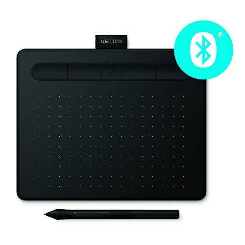 Wacom CTL-4100WLK-S Intuos - Tableta Gráfica con Lápiz, softwares creativos y Bluetooth incluidos, negro, tamaño S