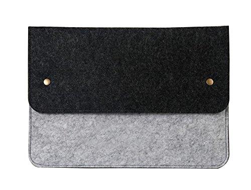 "Filz Laptop Sleeve Laptoptasche Schutzhülle Notebooktasche Tablette Kasten Aktenkoffer Computer-Beutel für 11.6-15.6 Zoll Macbook/Dell/Lenovo/Ultrabook 14"" Dunkel Grau"