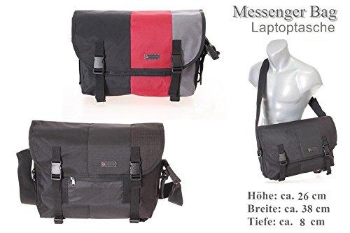 Sparter , Borsa Messenger  Unisex bambini Unisex adulto Bambini Uomo Donna multicolore nero Nero-rosso-grigio