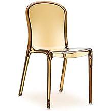 Plexiglás acrílico silla Victoria Ghost chair. Figura transparente Amber.