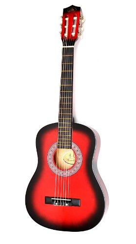 ts-ideen Kindergitarre 1/2 Akustik Klassik Gitarre mit Tasche und Gurt NEU (1/2, Rot)