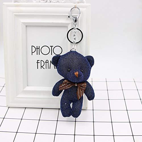 Honta giocattolo per bambini giocattolo di san valentino simpatico orsetto pendente portachiavi borsa a mano auto fascino portachiavi accessori regalo (colore : blu, dimensione : 13x5cm)