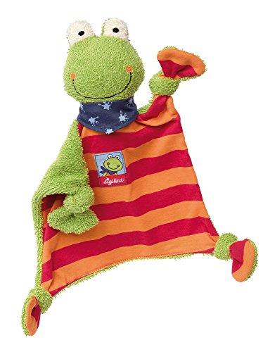 sigikid, Mädchen und Jungen, Schnuffeltuch Frosch, Folunder Frog, Mehrfarbig, 38685 (Tröster Baumwoll-jersey)