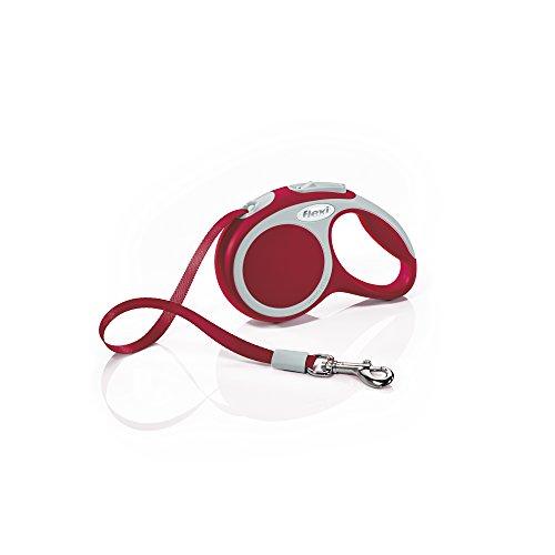 flexi Roll-Leine Vario XS Gurt 3 m rot für Hunde, Katzen und Kleintiere bis max. 12 kg