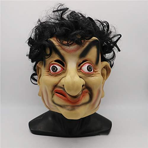 Männlich Promi Kostüm - FXXUK Lustige Vollgesichts Kopf Party Maske Latex Promi Masken Dekoration Requisiten für Cosplay Kostüm Halloween Maskerade Leistung Requisiten