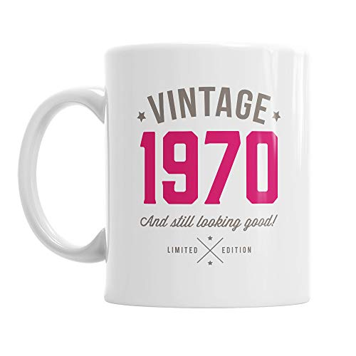 Vintahe 1970 Mug - and still looking good - pink or blur