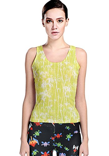 CowCow - Canotta -  donna Yellow & White XXX-Large
