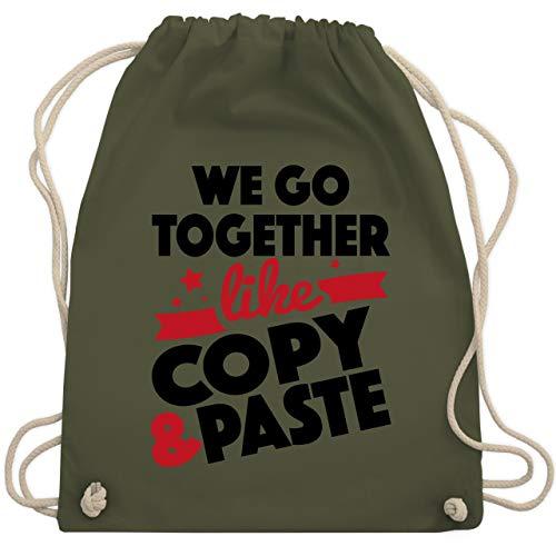 Nerds & Geeks - We go together like Copy & Paste - Unisize - Olivgrün - WM110 - Turnbeutel & Gym Bag -