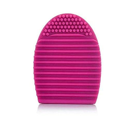 Transer® Silikon Fashion Ei Form Reinigungshandschuh Make-up Waschen Pinsel Scrubber Werkzeug Reinigungsmittel Cosmetics (Glove Dark Shadow)