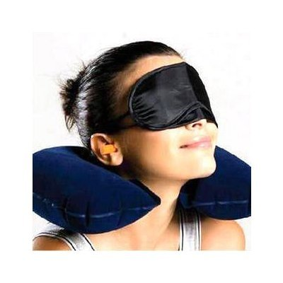 3 in 1 Travel Selection Comfort Neck PIllow, Travel Eye Shade Mask, Ear Plugs,Suitable for Train Bus Fligh Car etc..