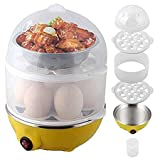 MultiFunction Double Layer ElectricEgg Cooker Egg Boilers & Steamer