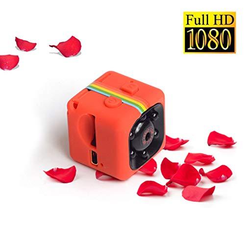 1080p Mini Farbe Hd Nachtsichtkamera Small Hd-rekorder, Nacht Vision/motion Detection/zyklus Video, Mini Life Rekordkamera,Orange -