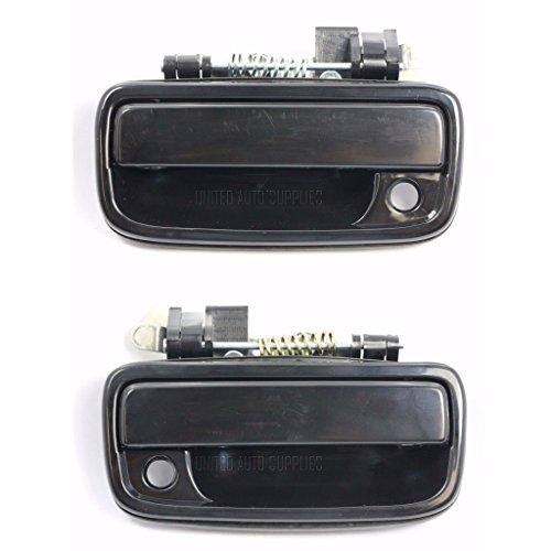 Preisvergleich Produktbild MagiDeal Vorder aeussere Tuergriff Glatt Auto Tuergriffe Schwarz Ersatztuergriff