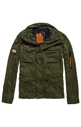 Superdry Herren Rookie Classic 4 Pocket Jacket Mantel, Beige (Khaki 03o), X-Large -