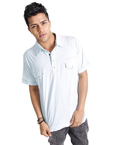 Herren Polo Baumwolle Short Sleeve Summer Holiday T-Shirt Gelb - Cremefarben