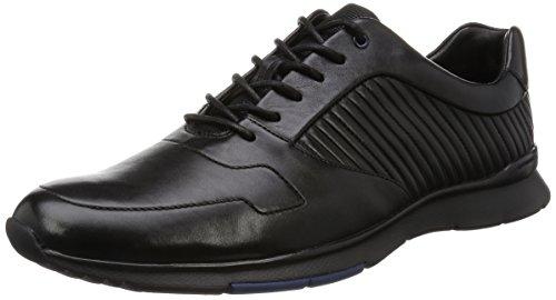 Clarks Tynamo Race, Derby Homme Noir (Black Leather)
