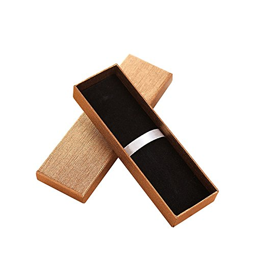Zhi Jin 5 x Exquisite Jewelry Kugelschreiber Geschenk-Box mit Kissen Bleistift Boxen leer Fall Bulk Collection Set für Jahrestag Business gold