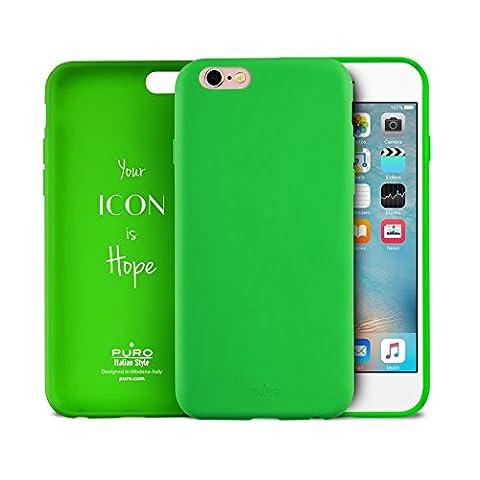 Puro Icon IPC647ICONL Coque en silicone pour iPhone 6/6S Vert