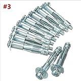 Sourcingmap/® M8/in acciaio INOX Eye bulloni espansione Shield Anchor 8/MMX80/MM 2PCS