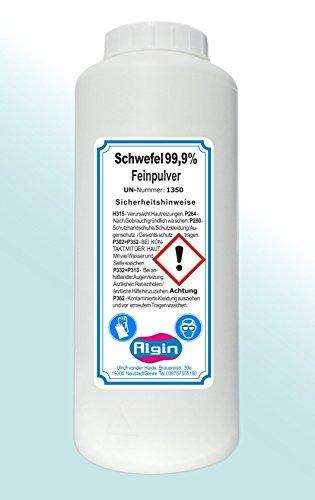 Algin Schwefelpulver 1Kg Eimer Schwefel-Fein-Pulver gereinigt und fein -