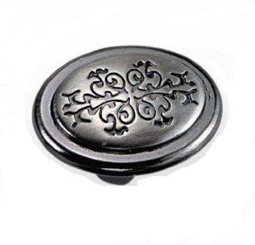 Liberty Nickel-knöpfe (Laurey 53117 Cimarron-Knopf, oval, 3,2 cm, Nickel satiniert)