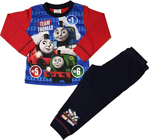 Boys Thomas The Tank Engine Pyjamas Pjs Ages 18 Months to 5 Years