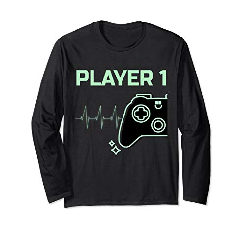 Gaming Kostüm Paar - Player 1 Langarmshirt