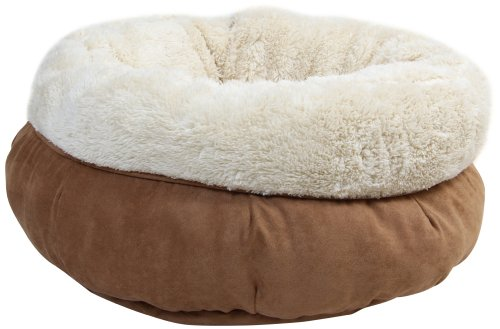 All for Paws Katzenbett Lammfell Donut Bett, Braun