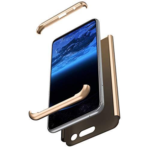 Surakey Compatibile con Huawei Honor V20/View 20 Cover Protezione a 360 Gradi Custodia in Plastica Rigida 3 in 1 Full Body Case Ultra Slim Shock-Absorption Hard PC Custodia,Oro