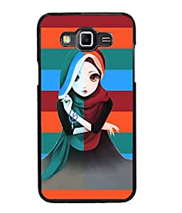 Fuson Pattern Girl Back Case Cover for SAMSUNG GALAXY GRAND 3 - D3679