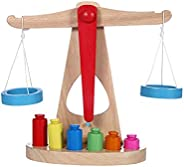 JOKFEICE Wooden Balancing Toy Balancing Scale Game Early Educational Toy Counting Toys Montessori Toys for Sci