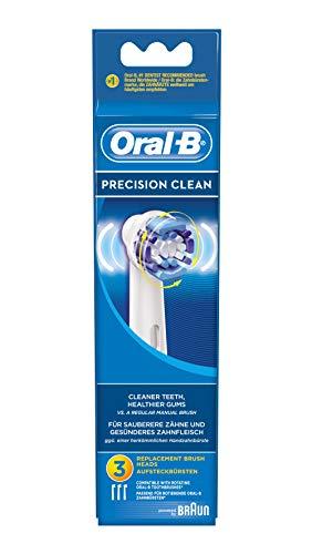 Oral-B Precision Clean Testine di Ricambio per Spazzolino Elettrico, Confezione da 3 Pezzi, white