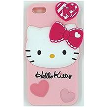Seagull_UK - Carcasa para iPhone y Samsung, goma suave, diseño 3D de Frozen, silicona, Pink Hello Kitty Heart, Samsung s4