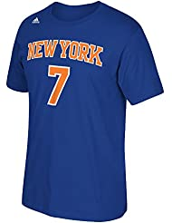 Carmelo Anthony New York Knicks NBA Adidas Player T-shirt camisa - Blue