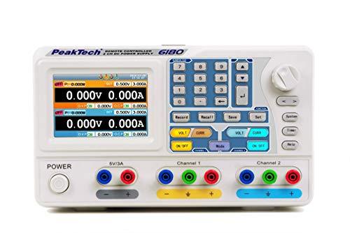 PeakTech P 6180 DC Linear Doppel-Labornetzgerät ~ 0-30V / 0-3A ~ mit TFT, USB & RS-232 3a Linear Power Supply