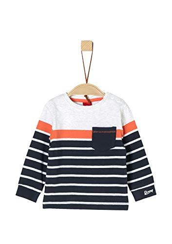 s.Oliver Baby-Jungen 65.902.31.8536 Langarmshirt, Blau (Dark Blue Stripes 58g4), Herstellergröße: 74 -