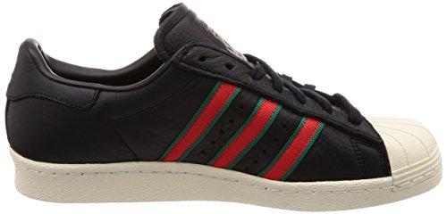 adidas Superstar 80s, Baskets Hautes Homme Noir (Core Black/green/red-sld)
