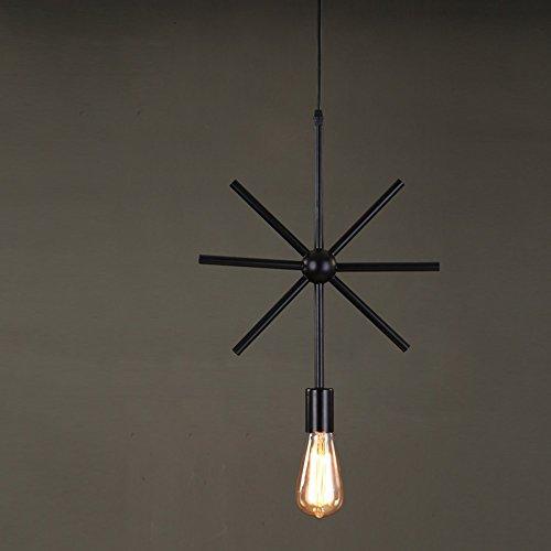 MMM- Lustre Industriel Fer Lampe Corps Fer Abat Jour E27 Lustre (Hauteur Réglable De Chaîne De Levage 200cm) (taille : #1)