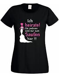 Shirtdepartment Soltero Mujer/Girlie Camiseta de diseño Ich heirate. El Resto se sólo para