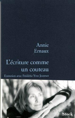 L Criture Comme Un Couteau [Pdf/ePub] eBook