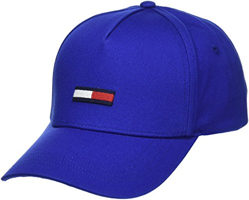 Tommy Jeans Unisex Flag   Baseball Cap Blau (Nautical Blue 483) One Size (Herstellergröße: OS) -