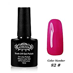 Perfect Summer UV Led Gel Nail Polish Color 10ml Soak Off Gel Manicure product Deep Magenta