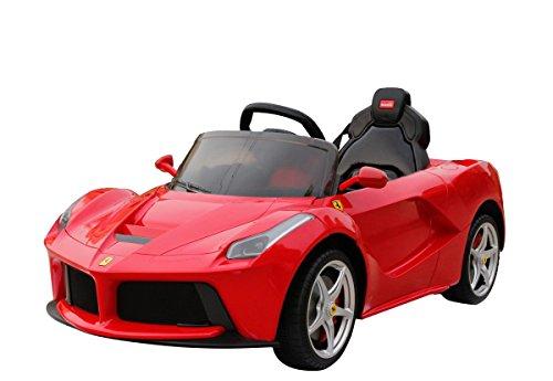 Ferrari RUNRUNTOYS-Coche Eléctrico 12V Licenciado para Niños de +3 Años con Asiento...