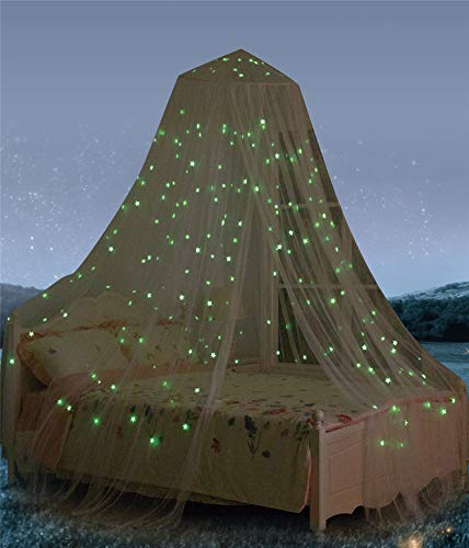 South To East Auvent de lit avec étoiles fluorescentes phosphorescentes, Cadeau pour bébé, Enfants, garçons, Filles, Fille. Ciel de lit pour bébé, lit d'enfant, lit de Fille ou lit de Taille réelle.