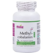 Zenith Nutrition Methylcobalamin Vitamin B12 for Brain and Nervous Support - 100 Veg Capsules