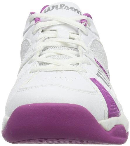 Wilson RUSH OPEN W WHITE/WHITE/NEW FUSHIA 9 WRS317880E090 Damen Tennisschuhe Mehrfarbig (White/White/New Fuchsia)